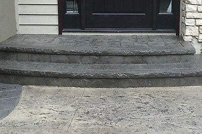 Chiseled Slate Cantilever Ledge Concrete Stamp Step Insert - 8""