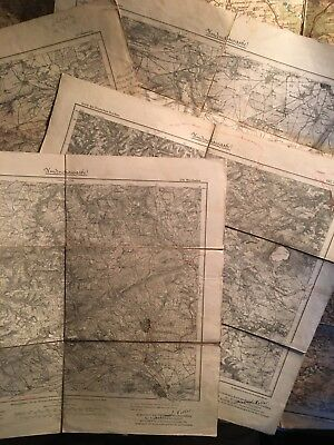 Lot Of 6 Vintage Imperial German maps Late 1800s - Early 1900s