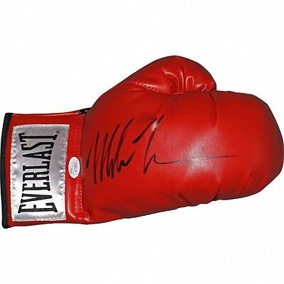 Mike Tyson Autographed Everlast Red Boxing Glove: Steiner COA