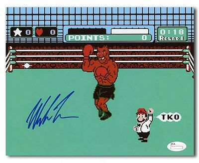 Mike Tyson Autographed Punch-Out NES Boxing Video Game 8x10: JSA Holo