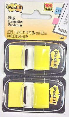 3M Post - it 680 -YW 2. Yellow ( 100 Color Flags )