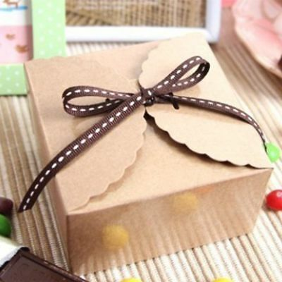 10Pcs Favor Box Party Candy Box Wedding Gift Bakery Cookie Favor Packaging Hot
