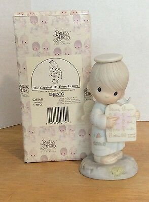 Precious Moments Figurine The Greatest Of These Is Love 521868 1989
