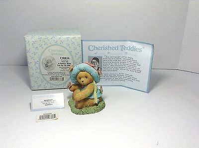 "Nib=Vtg=2004=Cherished Teddies=Stephanie-""i'm All A Flutter With You By My Side"""