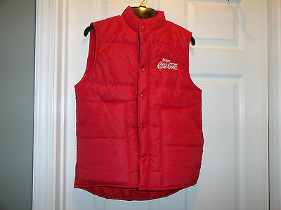 Coca Cola Red Nylon Vest, Adult Size Small, Made In Usa