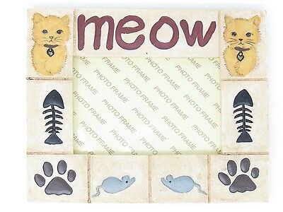 Meow Cat photo frame opened box