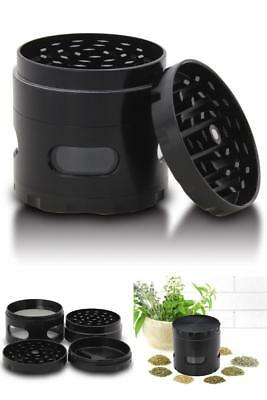 Heavy Duty Premium Weed Marijuana Herb Spice Tobacco Grinder Crusher + Catcher