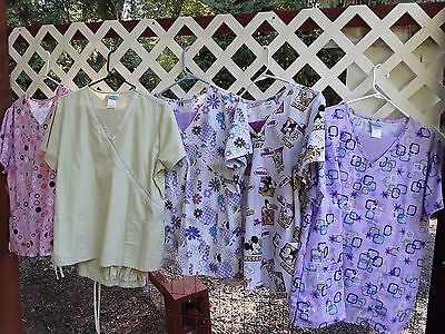 Huge lot of women's size large scrubs.Tops are lg pants med