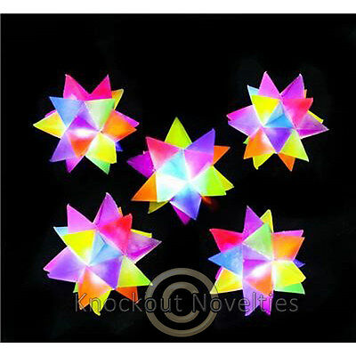 "2.5"" Crystal Star Light-Up Bounce Ball Novelty Gift Item Play Fun"