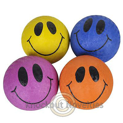 "5"" Smile Face Playground Ball Novelty Gift Item Play Fun"