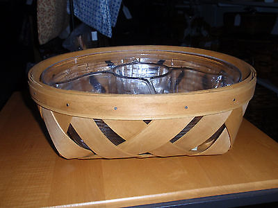 """Longaberger PRODO TYPE """"LATTICE WEAVE LG CATCH ALL BASKET"""" Only One Made. NEW!"""