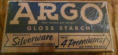Vintage Argo Gloss Starch Box