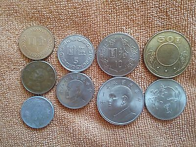 World coins from Taiwan x10