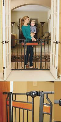 Extra Tall Walk Thru Baby Safety Fence Pet Dog Toddler Child Stairs Through Wide