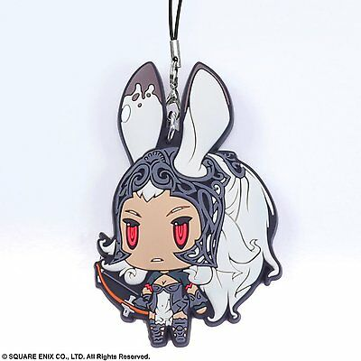 Square Enix Trading Rubber Strap 3 Cellphone Clasp Charm Final Fantasy XII Fran