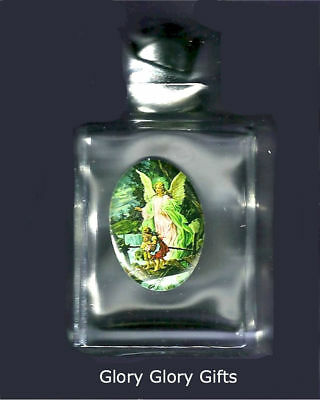 Guardian Angel Clear Glass Holy Water Bottle 2 oz. Screw Top, NOT FILLED!!