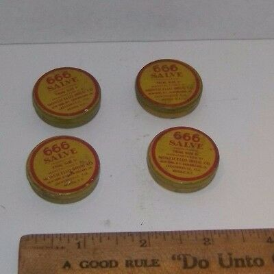 Vintage 666 Salve Monticello Drug Co. $ Small Tins