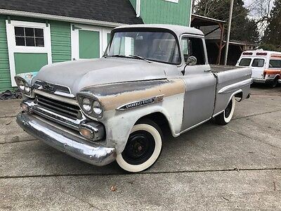 1959 Chevrolet Other Pickups  1959 Chevy Apache short bed fleetside rat rod hot rod