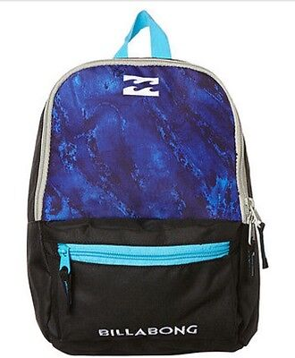 NEW with TAGS Billabong Boys Mini Atom Backpack Indigo Blue RRP $29.99 FREE POST