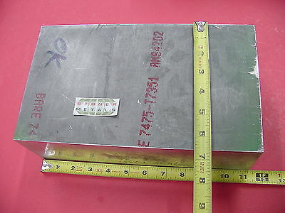 "D 3.92""x 6.5""x 11.25"" ALUMINUM 7475-T7351 Solid Plate Mill Bar Stock Alcoa 7075"