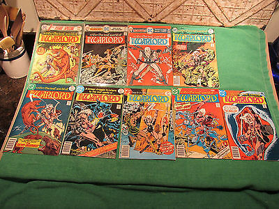 DC Comic Book Lot Warlord #1 to 9 No #4 Plus 1st Issue Spec Very Good Look Close