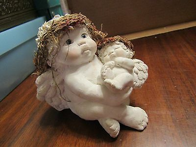 Dreamsicles LARGE Baby and Me Signed Kristin '95 Cast Art Ind. 1991