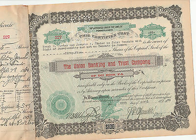 The Union Banking And Trust Company Of Dubois Pa