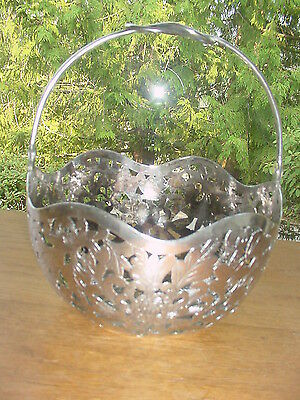 Old Hung Chong & Co. Chinese Export Silver Basket Bowl Foliate Design