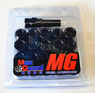 New Wheel Lug Nuts Steel Set M12x1.5 Black (20 Pcs) Free Postage