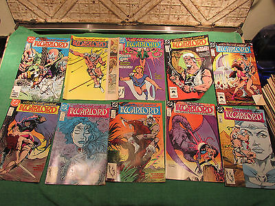 DC Comic Book Lot Warlord #120 to 129 Read Once And Put Up Very Good Look Close