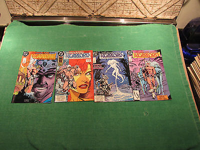 DC Comic Book Lot Warlord #130 to 133 Read Once And Put Up Very Good Look Close