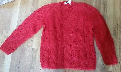 vintage ladies mohair and wool sweater size 36