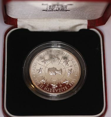 1993 Silver Proof £5 Five Pounds, British Coin From Elizabeth Ii