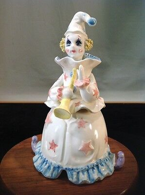 Vintage Lefton Porcelain Clown Music Box 03249