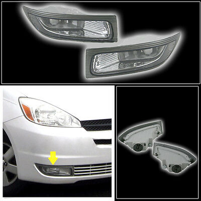 Auto Car Front Fog Lamp Light Left+Right for 2004 2005 TOYOTA SIENNA Car 1 Pair