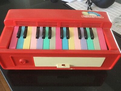 Vintage Antique Child Portable Organ, Music, Coloured Keys, Collectable