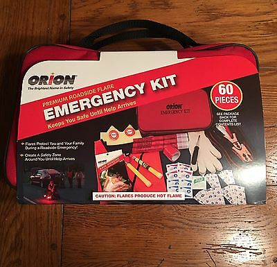 Orion 60-Piece Premium Roadside Flare Emergency Kit New (everything included)