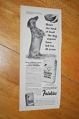 Friskies Dog Food 1953 February Better Homes and Garden Magazine Ad VG++