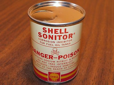 Vintage SHELL Sonitor  Corrosion Inhibitor for Fuel Tanks 4oz Can - still sealed