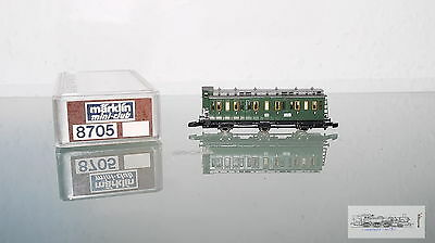 Märklin 8705, Compartment Coach with brakeman's cab DB for Z Gauge, BOXED