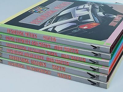 Artist Library - Set of 6 Vintage Airbrushing Books by July Martin