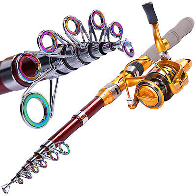 Spincasting Telescopic Fishing Rod and Reel Travel Freshwater Fishing Rod Kits