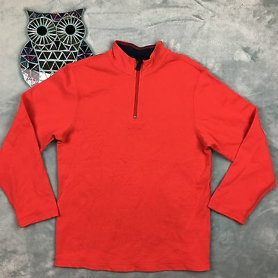 Hanna Andersson 150 12 14 large L boys pullover jacket red sweatshirt zip neck