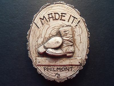 "VINTAGE Boy Scout Philmont  ""I MADE IT""  ceramic wall plaque"
