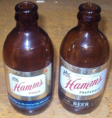 vintage set of hamms beer san fran stubby bottles