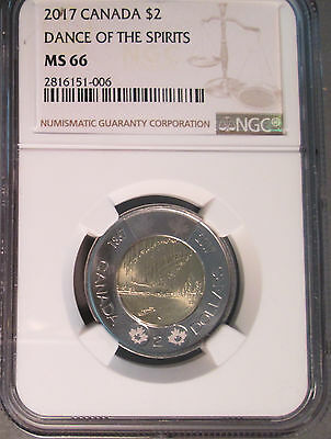 2017 Canada Two Dollar ($2) Dance of the Spirits Toonie, NGC MS 66