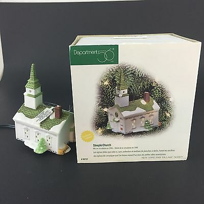 "DEPT 56 VILLAGE ACCESSORIES ""STEEPLE CHURCH ORNAMENT"" Light Up ornament"