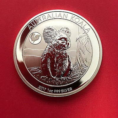 2017 Koala 1 oz 99.9% Silver Bu w/Rooster Privy coin - New Issue From Perth Mint