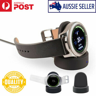 Wireless Qi Charging Dock Charger For Samsung Gear S2 S3 Classic Frontier Watch