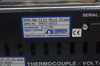 Omega Om-5000 Programable 10 Channel Thermocouple Data Logger Om-5110